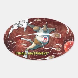 Pro Choice Design - Republicans' Small Government Sticker