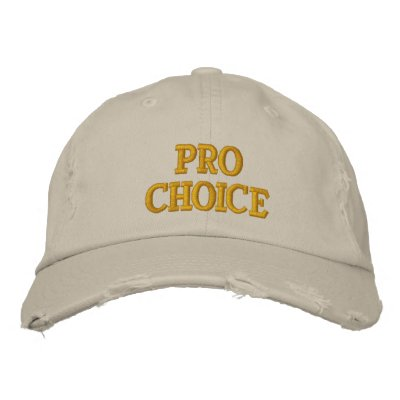 Pro Choice Embroidered Baseball Cap