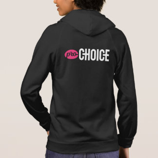 Pro-Choice Fitted American Apparel Black Zip-Up Hoodie