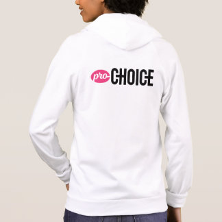 Pro-Choice Fitted American Apparel White Zip-Up Hoodie