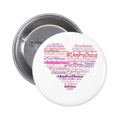 Pro Choice Heart 2 Inch Round Button