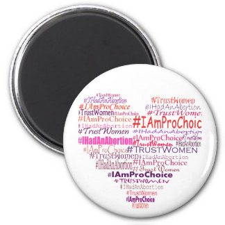 Pro Choice Heart 2 Inch Round Magnet