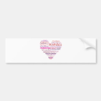 Pro Choice Heart Bumper Sticker