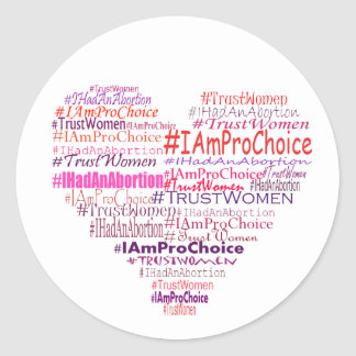 Pro Choice Heart Classic Round Sticker