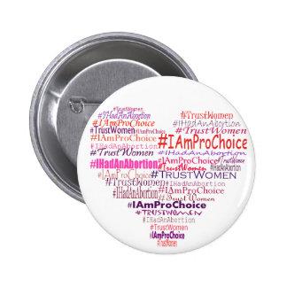 Pro Choice Heart Pinback Button