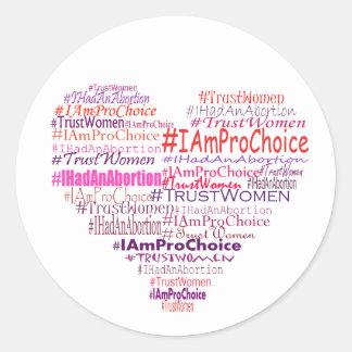 Pro Choice Heart Stickers