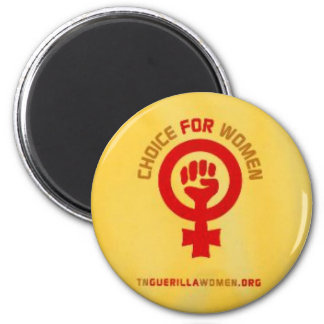 Pro Choice Magnet - Yellow with Women s Lib Sign
