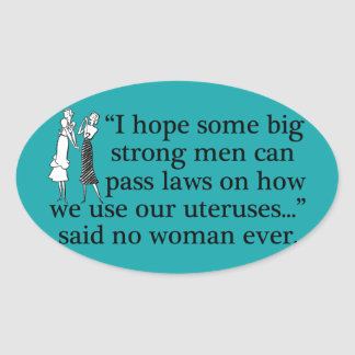 Pro Choice Meme Oval Sticker