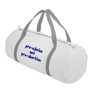 Pro-choice, not pro-abortion gym duffle bag