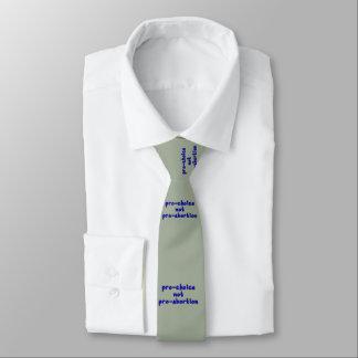 Pro-choice, not pro-abortion necktie