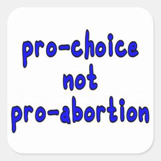 Pro-choice, not pro-abortion square sticker