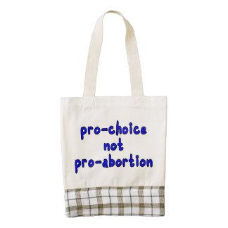 Pro-choice, not pro-abortion zazzle HEART tote bag