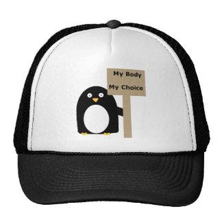 Pro-Choice Penguin (My Body My Choice) Trucker Hat