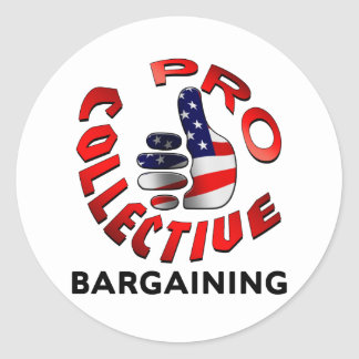 Pro Collective Bargaining Classic Round Sticker