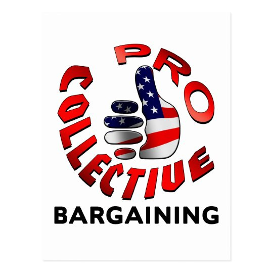 Pro Collective Bargaining Postcard