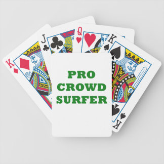 Pro Crowd Surfer Bicycle Playing Cards