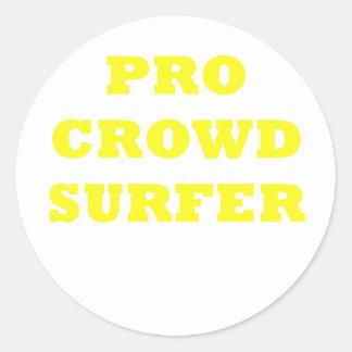 Pro Crowd Surfer Classic Round Sticker