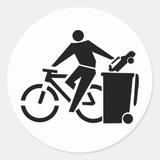 Pro Cycling Anti Car Classic Round Sticker