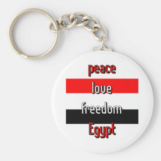 Pro-democracy Egypt Basic Round Button Keychain
