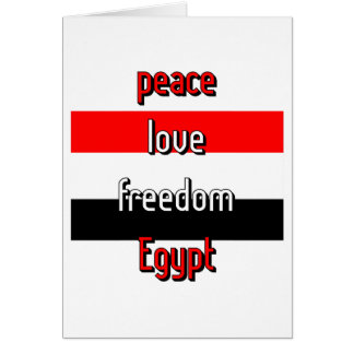Pro-democracy Egypt Card