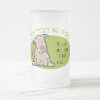 Pro Dog Trainer 16 Oz Frosted Glass Beer Mug