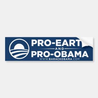 Pro-Earth Obama Bumper Sticker Car Bumper Sticker