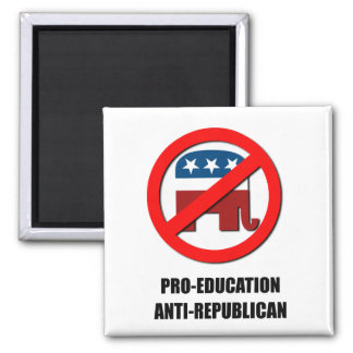 Pro-Education Anti-Republican Refrigerator Magnets
