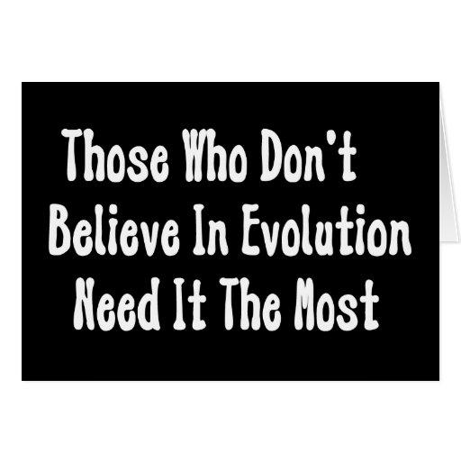 Pro-Evolution Greeting Card