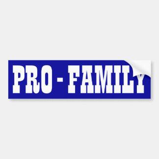 Pro-Family Car Bumper Sticker