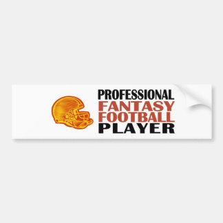 Pro Fantasy Football Player Bumper Sticker