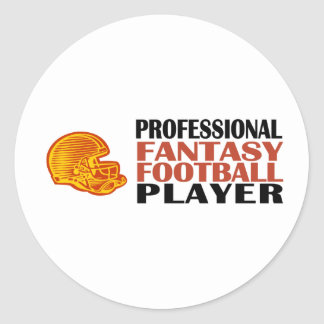 Pro Fantasy Football Player Classic Round Sticker