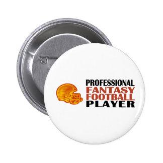 Pro Fantasy Football Player Pinback Button