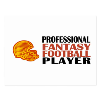 Pro Fantasy Football Player Postcard