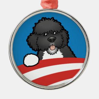 Pro First Dog Bo Obama Metal Ornament