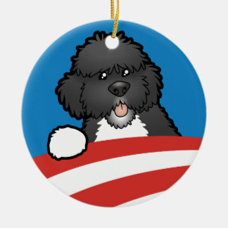 Pro First Dog Bo Obama Double-Sided Ceramic Round Christmas Ornament