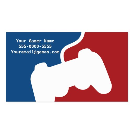 Pro gamer video game business cards zazzle for Video game business cards