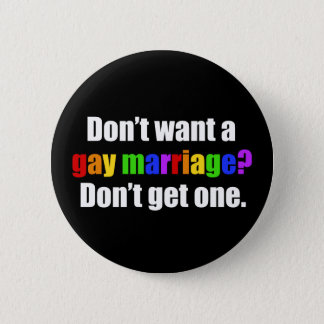 Pro Gay Marriage Button