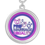 Pro gay marriage personalized necklace