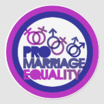 Pro gay marriage round stickers