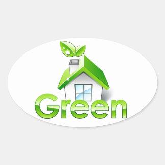 Pro Green Environmental Oval Sticker