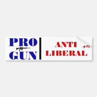 Pro Gun, Anti Democrat Bumper Sticker