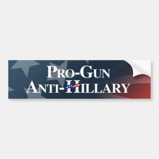 Pro-Gun Anti-Hillary - white -.png Bumper Sticker