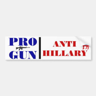 Pro Gun, Anti Obama, Anti Hillary, Anti Democrat Car Bumper Sticker