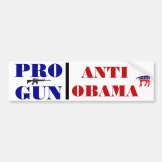 Pro Gun, Anti Obama Bumper Sticker Car Bumper Sticker
