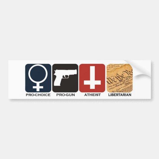 Pro Gun Pro Choice Atheist Libertarian Sticker Zazzle Com