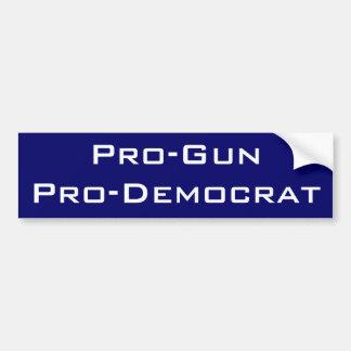 Pro-Gun Pro-Democrat Bumper Sticker