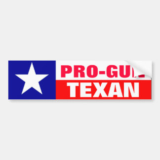 Pro-Gun Texan Bumper Sticker