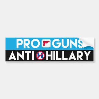 Pro-Guns Anti-Hillary - -  Bumper Sticker