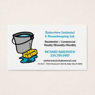 Pro Housecleaning Maid or Janitor Service Business Card