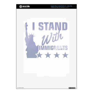 Pro immigration statue of liberty shirt skin for iPad 3